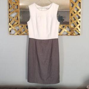 Banana republic color block career dress sz 2